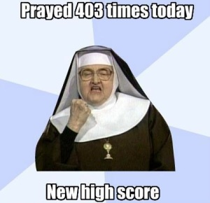 sister-prayer-new-high-score-funny-meme